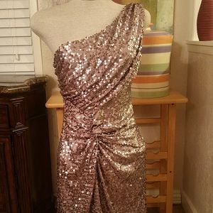As You Wish Sequin One Shoulder Dress